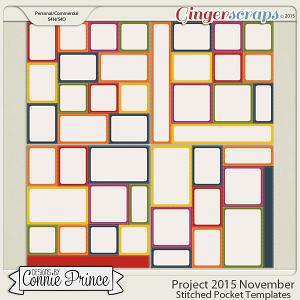 Project 2015 November - Stitched Pocket Templates