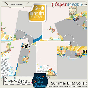 Summer Bliss Bundle by Dagilicious and Miss Fish Templates