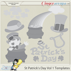 Doodles By Americo: St Patrick's Day Vol 1 Templates