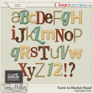 Farm to Market Road Alpha Sets by Aimee Harrison and Tami Miller Designs