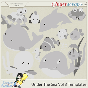 Doodles By Americo: Under The Sea Vol 3 Templates