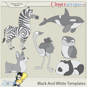 Doodles By Americo: Black And White Templates