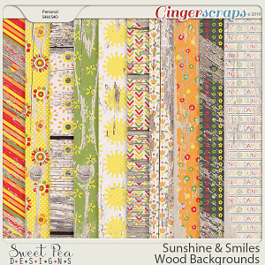 Sunshine and Smiles Wood Backgrounds