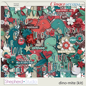Dino-Mite Digital Scrapbooking Kit by Shepherd Studio