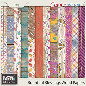 Bountiful Blessings Wood Papers by Aimee Harrison