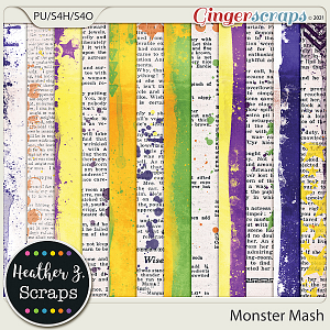 Monster Mash PAINTED PAPERS by Heather Z Scraps
