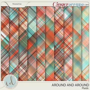 Around And Around Plaids by Ilonka's Designs