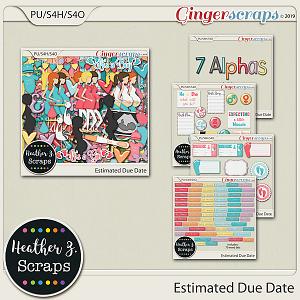Estimated Due Date BUNDLE by Heather Z Scraps