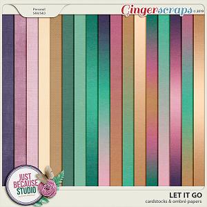 Let It Go Cardstocks & Ombré Papers by JB Studio