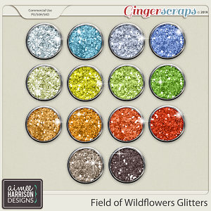 Field of Wildflowers Glitters by Aimee Harrison