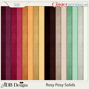 Rosy Posy Solid Papers by ADB Designs