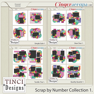 Scrap By Number Collection 1.