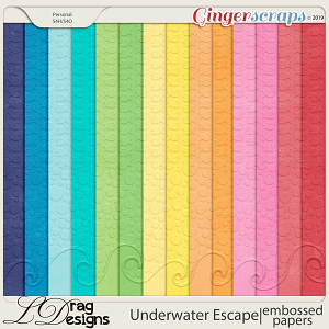 Underwater Escape: Embossed Papers by LDragDesigns