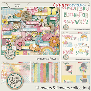 Showers and Flowers Collection by Chere Kaye Designs