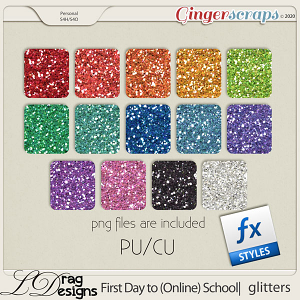 First Day To (Online) School: Glitterstyles by LDragDesigns