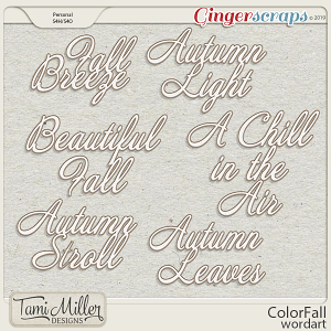 ColorFall Wordart by Tami Miller Designs