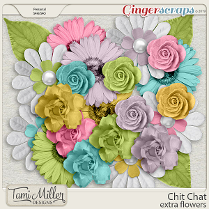Chit Chat Extra Flowers by Tami Miller Designs