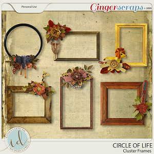Circle Of Life Cluster Frames by Ilonka's Designs
