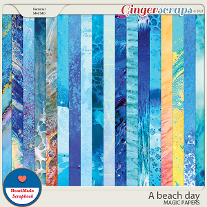 A beach day - magic papers