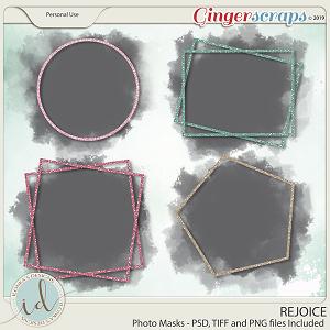 Rejoice Photomasks by Ilonka's Designs