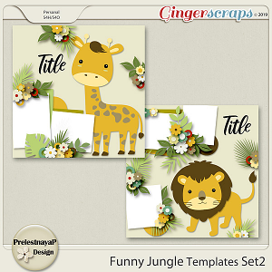 Funny Jungle Templates Set2
