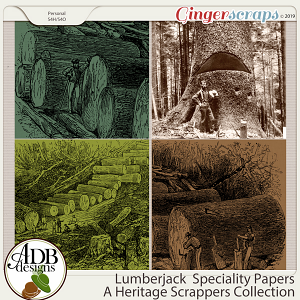 Lumberjack Scenic Papers by ADB Designs