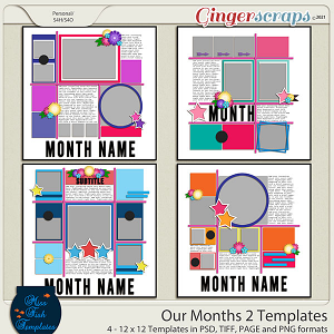 Our Months 2 Templates by Miss Fish