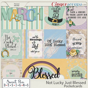 Not Lucky Just Blessed Pocketcards