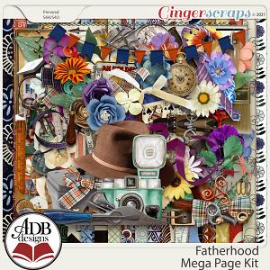 Fatherhood Mega Page Kit by ADB Designs