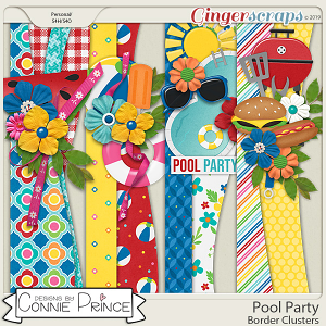 Pool Party - Borders by Connie Prince