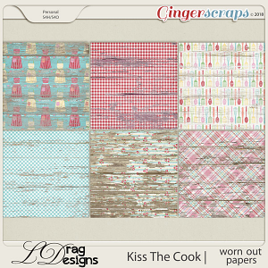 Kiss The Cook: Worn Out Papers by LDragDesigns