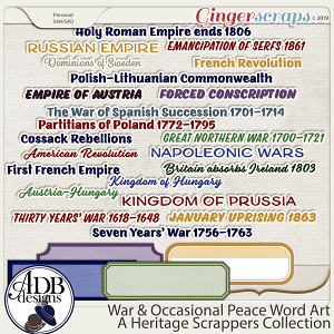War and Occasional Peace Word Art by ADB Designs