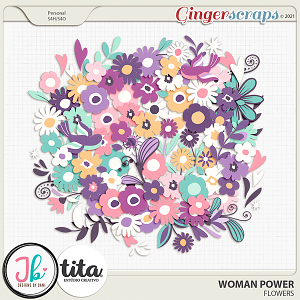 Woman Power Flowers by JB Studio and Tita