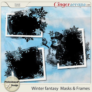 Winter fantasy Masks & Frames