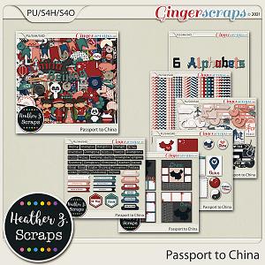 Passport to China BUNDLE by Heather Z Scraps