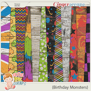 Birthday Monsters Wood Papers
