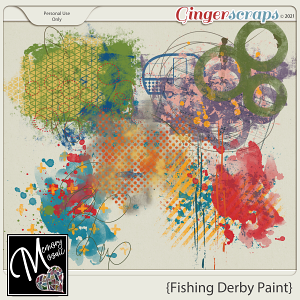 Fishing Derby Paint by Memory Mosaic