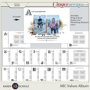ABC Values Album by Karen Schulz