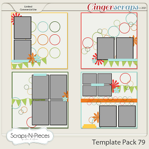 Template Pack 79 by Scraps N Pieces