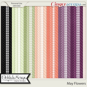 May Flowers Pattern Papers