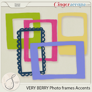 Very Berry Photo frames Accents
