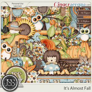 It's Almost Fall Digital Scrapbooking Kit