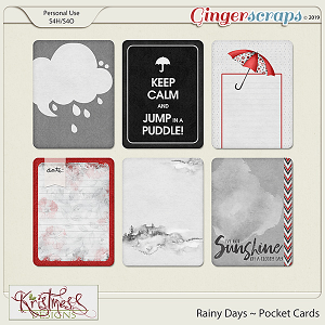 Rainy Days Pocket Cards