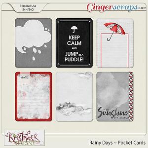 Rainy Days Pocket Cards