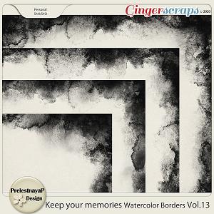 Keep your memories Watercolor Borders Vol.13