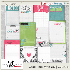 Good Times With You Journal Cards