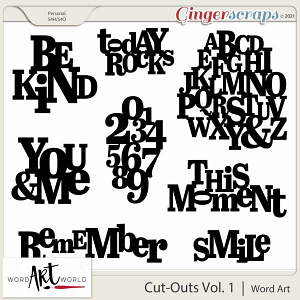 Cut-Outs Vol. 1 Word Art
