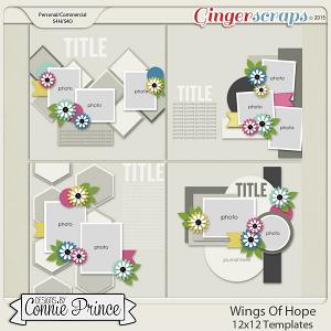 Retiring Soon - Wings Of Hope - 12x12 Templates (CU Ok)