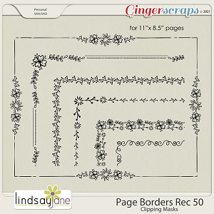 Page Borders Rec 50 by Lindsay Jane