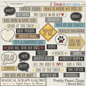 Pretty Paws: Dogs (word bits)